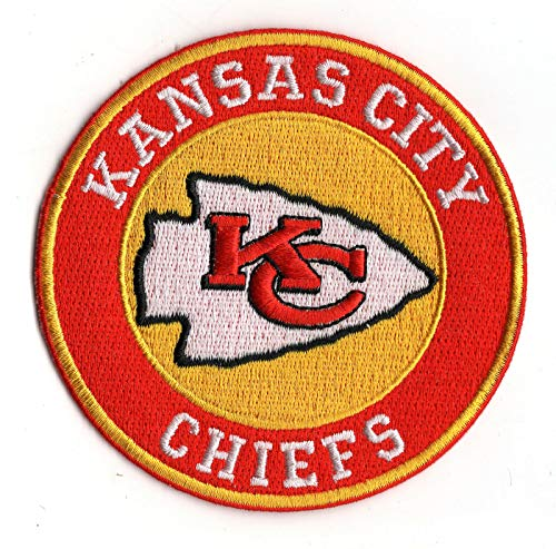 Kansas City Chiefs Round Iron-on NFL Football Jersey Patch 3.5