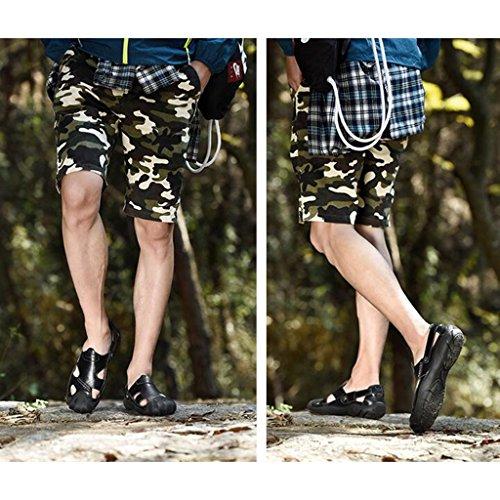 Aperta Dimensioni collisione Sandali Casual Anti da Baotou Casual Grandi Uomo Scarpe Scarpe di Spiaggia all'Aria Sandali Black Sport Sandali Moda wqSZxBSPY