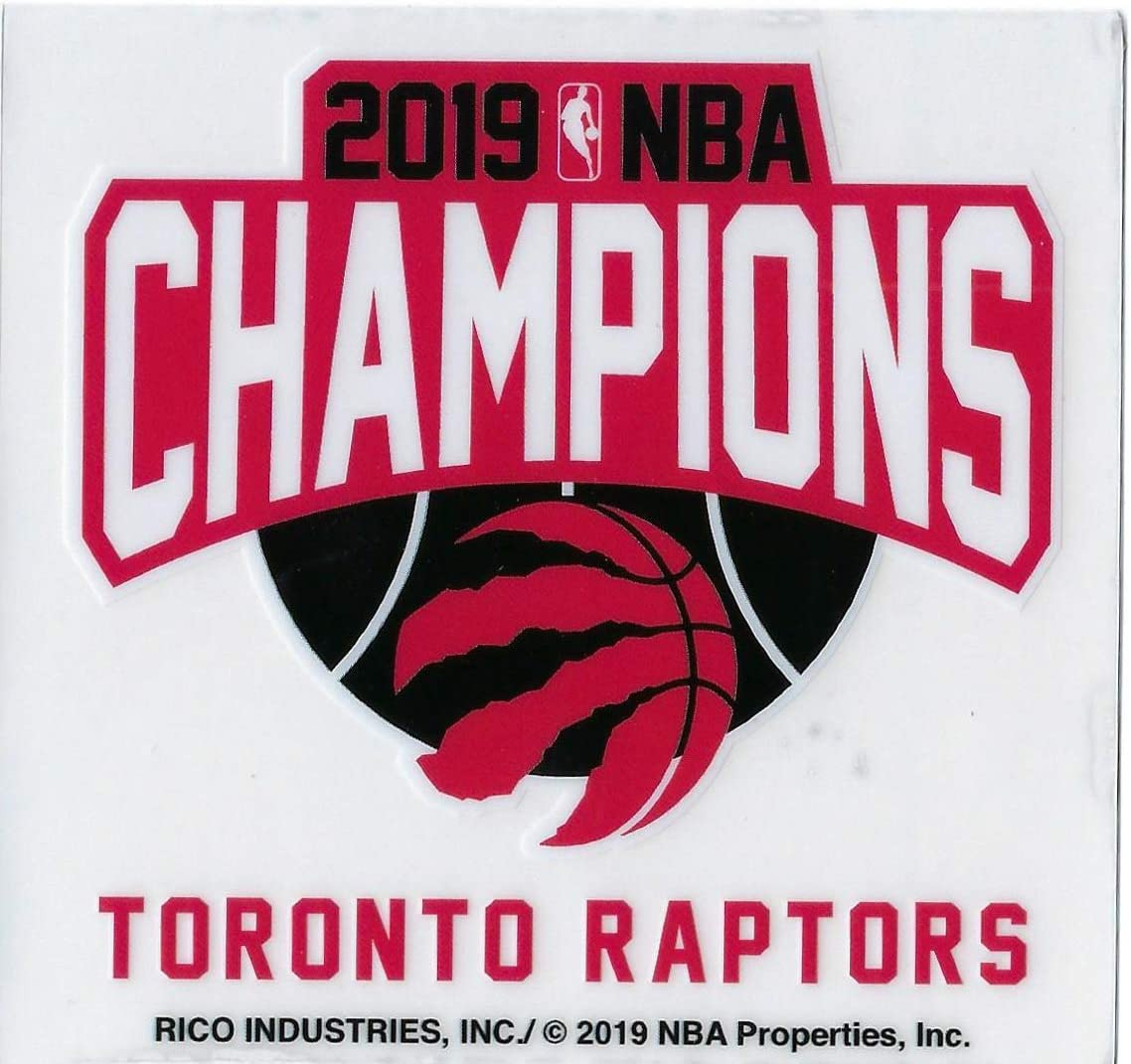 Toronto Raptors 2019 NBA Champions 3.75 x 3.5 Inch Vinyl Cling Decal