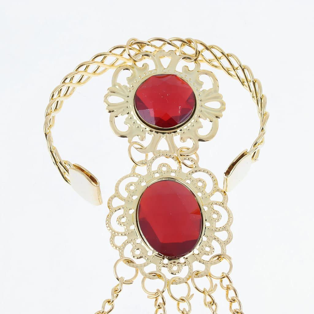Folk Dance Props Finger Jewelry Golden Long Nails for Performing Dances