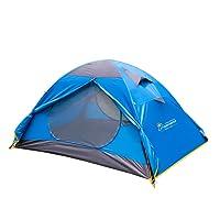 MOUNTAINTOP Trekkingzelt Zelt Minipack,Automatische Tunnelzelt Familienzelt Campingzelt für 2 Personen