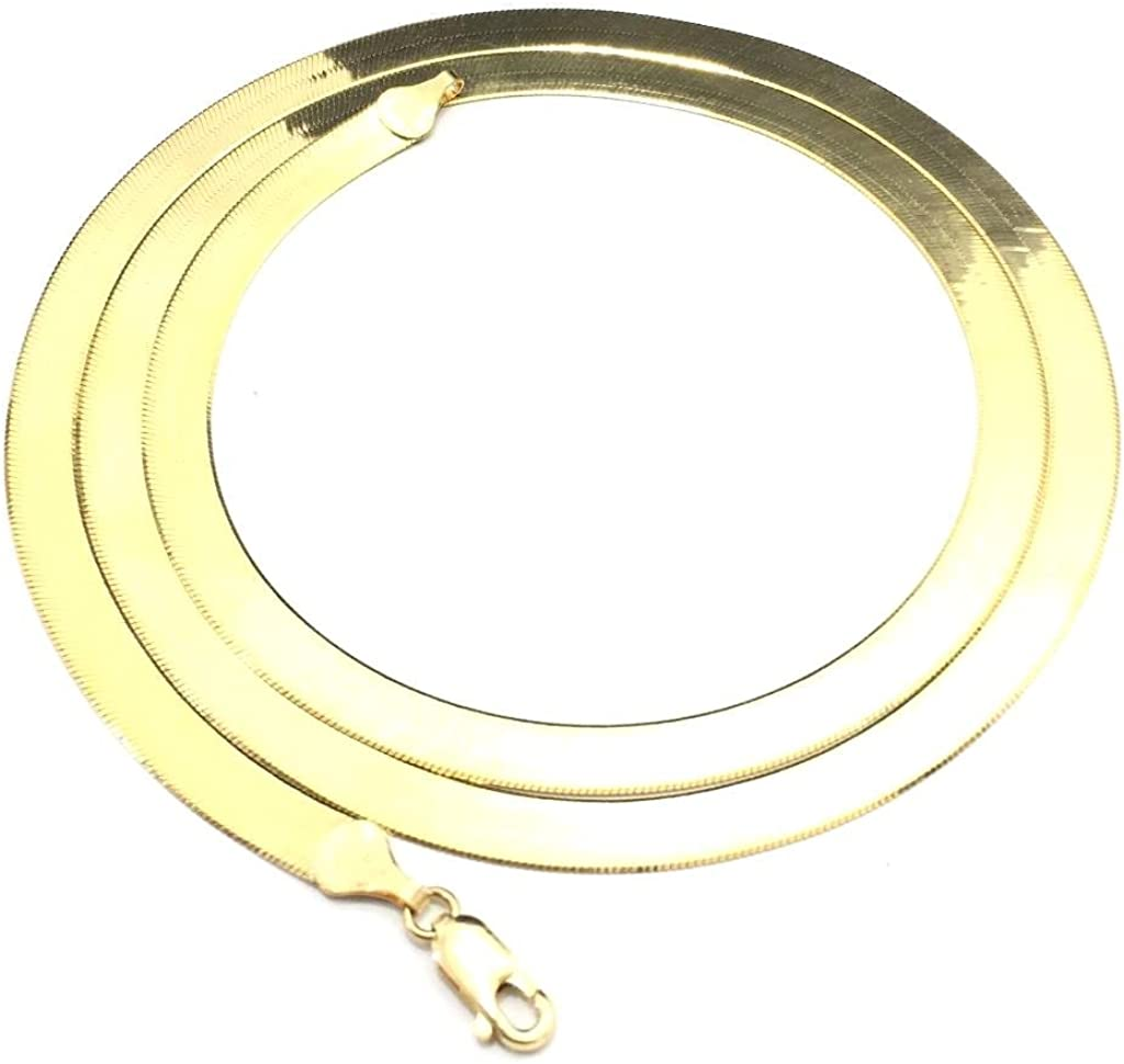 NEW 10K YELLOW GOLD 3 MM WIDE 20 LONG HERRINGBONE CHAIN NECKLACE 6782