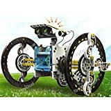 Cute Sunlight 14 - In - 1 Diy Kit Educational Solar Powered Robot