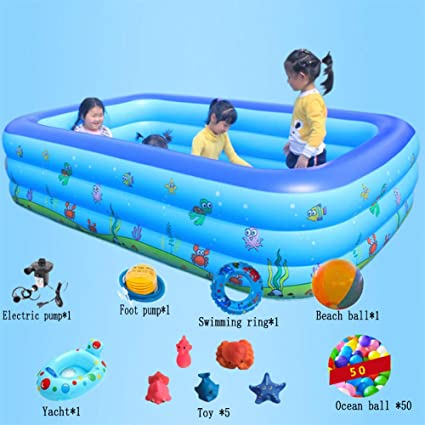 Amazon.com: DSFGHE Large Family Adult Inflatable Swimming ...