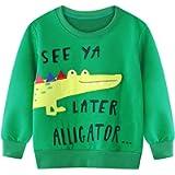 Jurebecia Toddler Boy Girl Sweatshirts Pants Pullover T-Shirts Tops Tee Casual Kids Winter Warm Long Sleeve Outfits