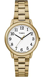 Timex Women s T2H371 Quartz Easy Reader Watch with White Dial ... 1ae3610995e