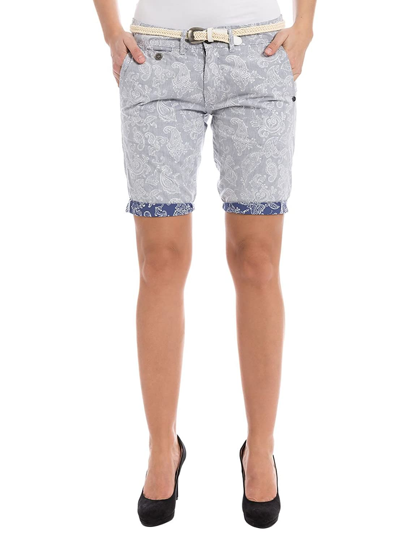 Timezone Damen Short Alannatz Short Chino Shorts Incl. Belt