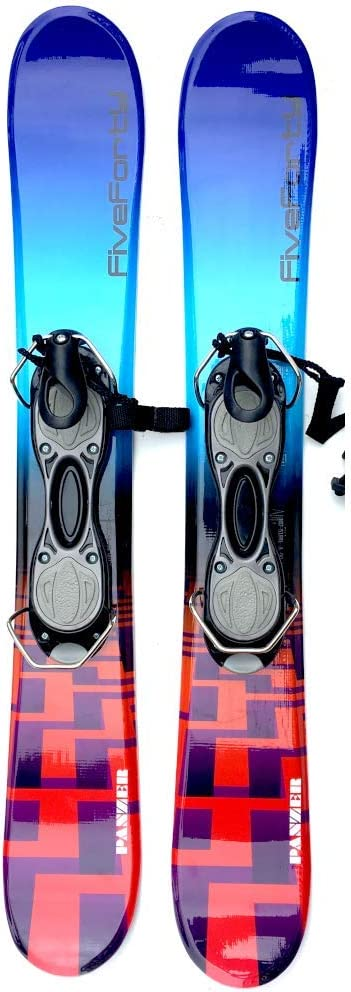 Snowjam Five Forty Panzer 75cm Skiboards Snowblades with ski boot bindings 2018