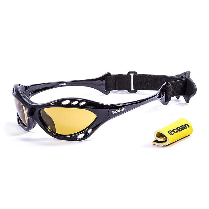 Ocean Sunglasses Cumbuco - lunettes de soleil polarisées - Monture : Noir Laqué - Verres : Jaune (15000.9) g5Xck