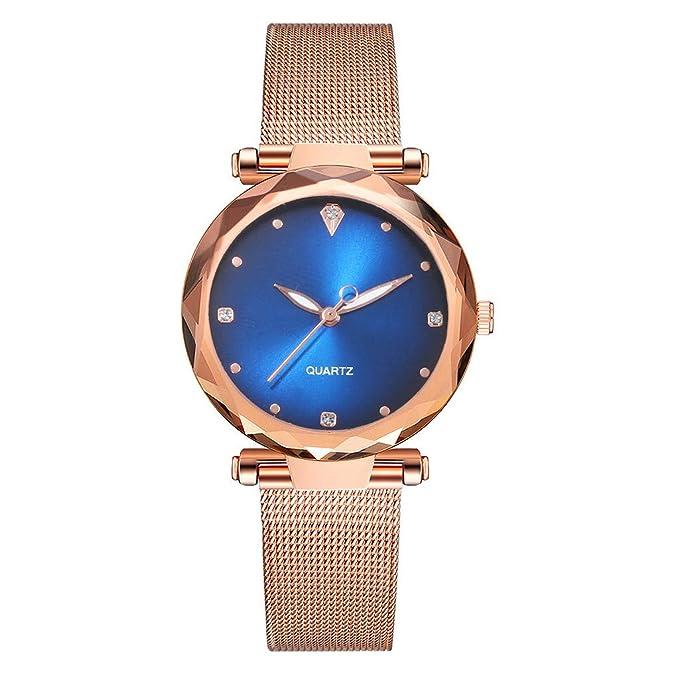 Mymyguoe Reloj de Pulsera Hombre Oro Reloj Mujer Unisex ...
