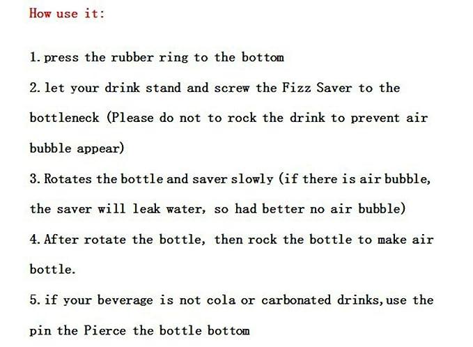 Amazon.com: Portable Party Soda Fizz Saver Dispenser Bottle ...
