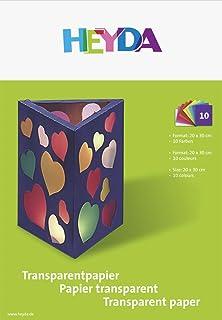Heyda 2048021 Transparentpapier-Heft 10 Packungen Transparentpapier
