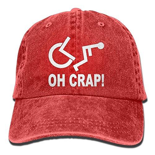 Funny Caps Crap Handicap Wheelchair Denim Hat Adjustable Unisex Cute Baseball Hats MAkAQs3