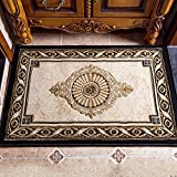 European-style entrance door mats Indoor mat Living room Door anti-skid mats Bedroom blanket for bedroom Household mats in the hall-A 80x200cm(31x79inch)