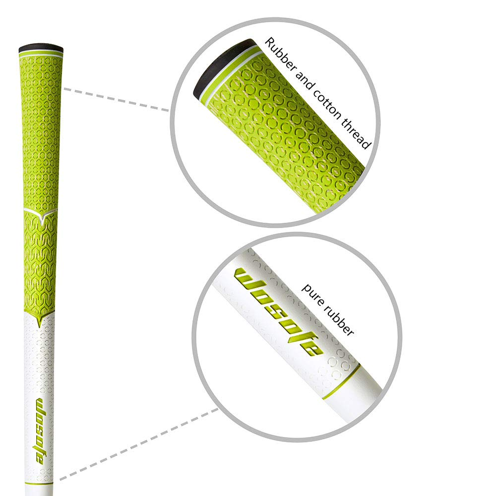 wosofe Golf Grips-Golf Club Grips for Men Golf Iron Grip Set Soft Non-Slip Wear Resistant Rubber Golf Grips (Green/1pcs) by wosofe (Image #2)