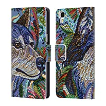 Official Erika Pochybova Wolf Animals Leather Book Wallet Case Cover For LG Nexus 5