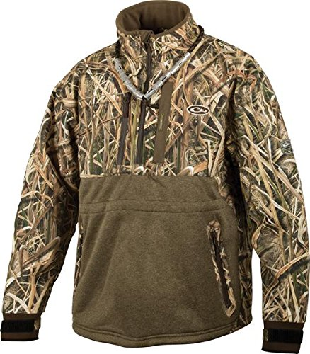 Drake LST Heavyweight Eqwader Quarter Zip Jacket (Realtree Max-5) (Men's XL) by Drake Waterfowl