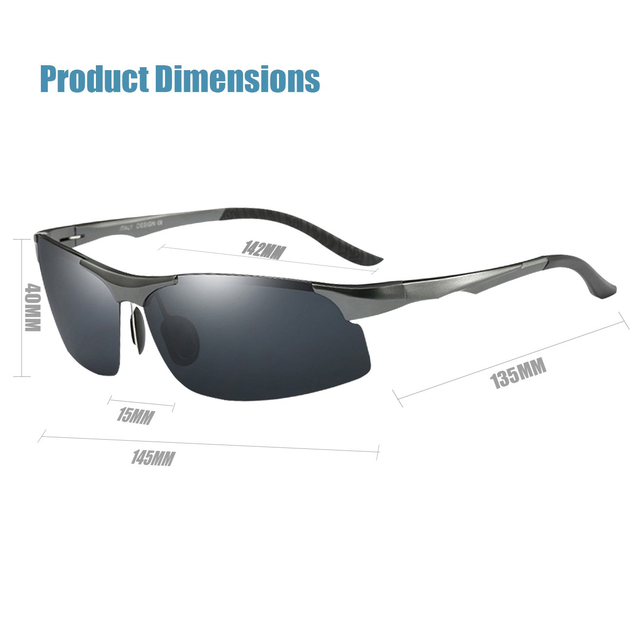 9b095fed7b COSVER 8003 Men s Sports Style Polarized Sunglasses for Driving Fishing  Golf Glass (Gray