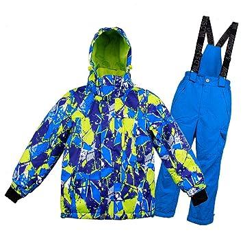 miju Chaqueta Esqui Niños Pantalón Impermeable, Traje de Snowboard Abajo Cálido Impermeable Chica Tamaño Grande