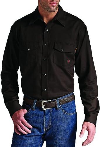 ARIAT Hombres de Resistente al Fuego Trenton Snap Camisa - Marrón - S: Amazon.es: Ropa y accesorios