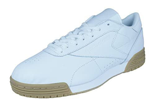 f10ecc430a3 Reebok Classic Womens Leather Sneakers Exofit Lo CLN Garment Gum-White-7