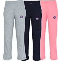 VIMAL Girl's Cotton Blend Trackpants - Pack of 3