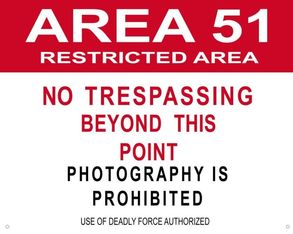 SIGNCHAT Area 51 - Señal de Metal con Texto en inglés ...