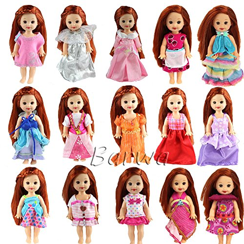 Kelly Doll Clothes (Lot 6 PCS Fashion Clothes Outfit Dress for Barbie's sister Kelly Doll Xmas)
