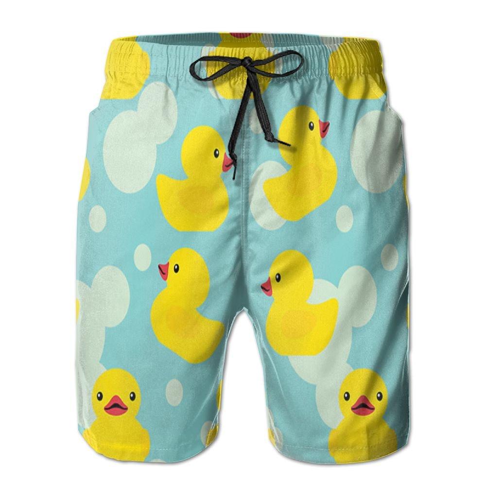 JINYOUR Rubber Ducky Men's Quick Dry Swim Trunks Beach Shorts Boardshorts