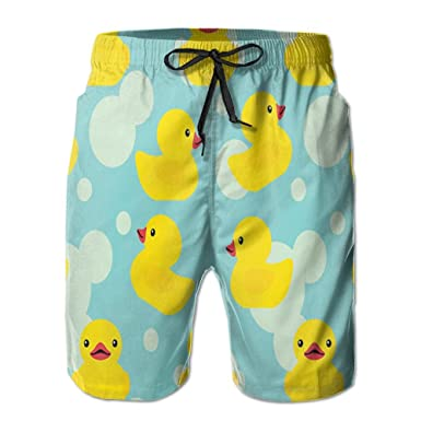 8a9f79eddf Amazon.com: JINYOUR Rubber Ducky Men's Quick Dry Swim Trunks Beach Shorts  Boardshorts: Clothing