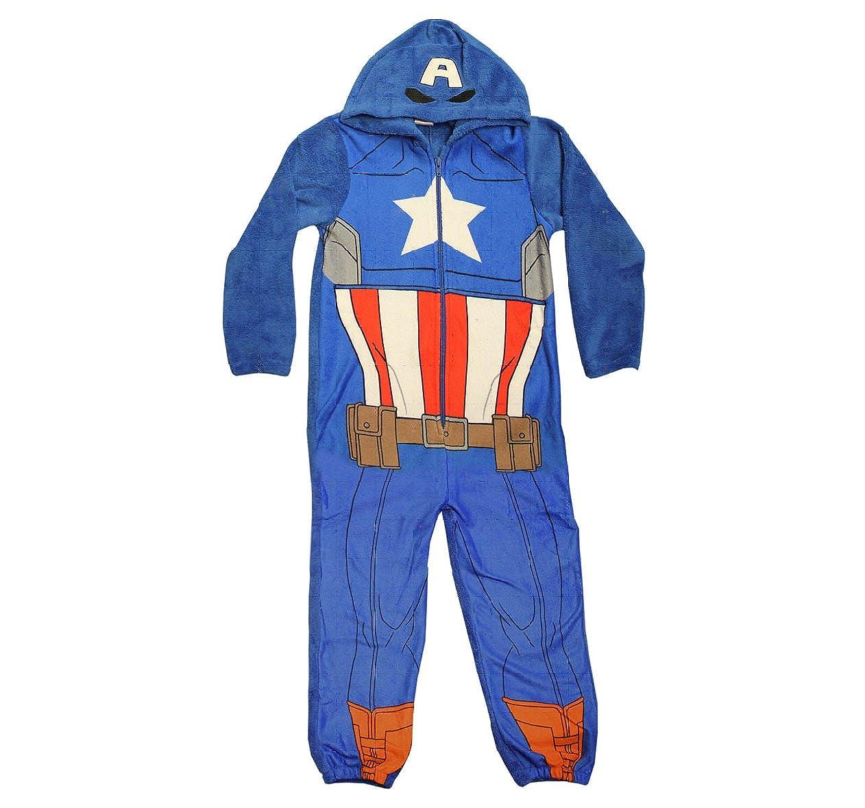 d8c11e7e9c952b Captain america Dress-up Hooded Onesie 11-12 Years  Amazon.co.uk  Clothing