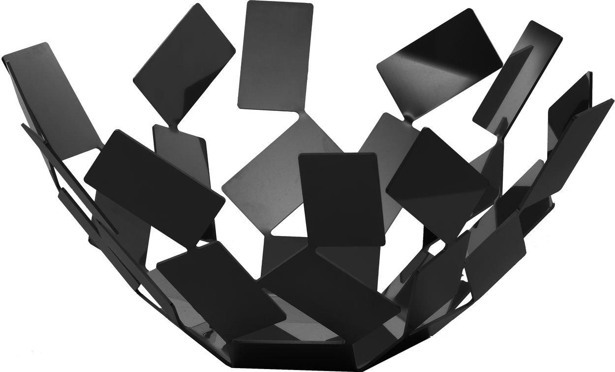Alessi La Stanza dello Scirocco Obstschale, Edelstahl, schwarz MT02 B