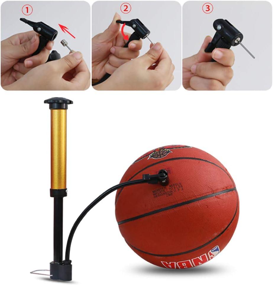 Mila-Amaz 6 Pi/èces Aiguilles de Pompe /à Ballon Adaptateur de Pompe pour Ballon de Football Volley Ball de Basket Ball