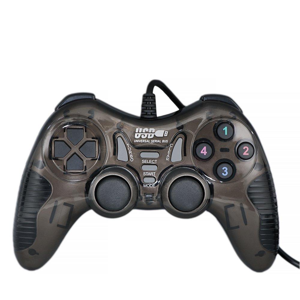 QUMOX Vibration-Feedback USB Wired Gamepad Gaming Controller Dual Shock Joystick for PC(Windows XP/7/8/8.1/10) L218U