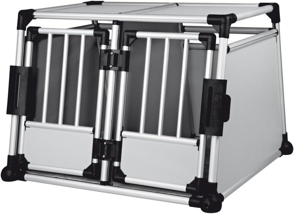 Die Doppelhundebox bietet sich für zwei oder Mehr Hunde für den Transport im Auto an