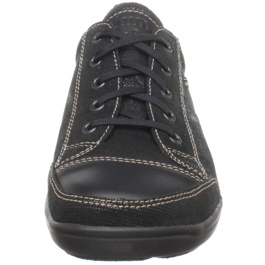 Finn Comfort Women's Soft Soho Fashion Sneaker B003GXFWRE 41 M EU / 10 B(M)|Black Minipoints/Nappa