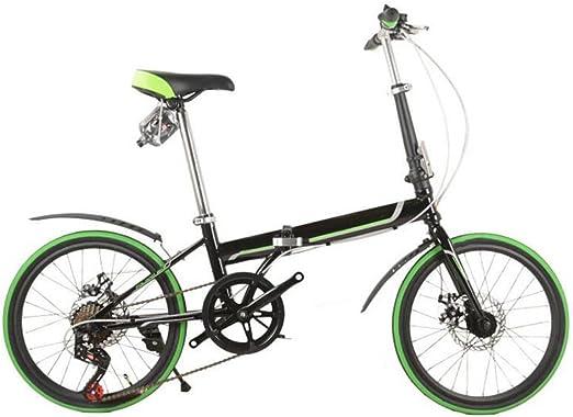 Freno De Disco Plegables Del Coche De 20 Pulgadas Bicicleta Plegable De Lujo Plegables Bicicleta Mini Estudiante Equipo Del Montar A Caballo Del Regalo Del Coche De La Bicicleta,Green-26in: Amazon.es: Hogar