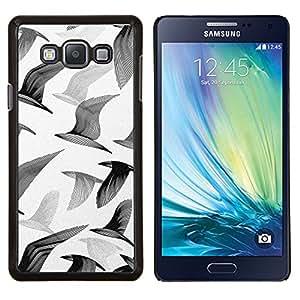 "Be-Star Único Patrón Plástico Duro Fundas Cover Cubre Hard Case Cover Para Samsung Galaxy A7 / SM-A700 ( Gaviotas Aves Vuelo Arte de la pintura blanca"" )"