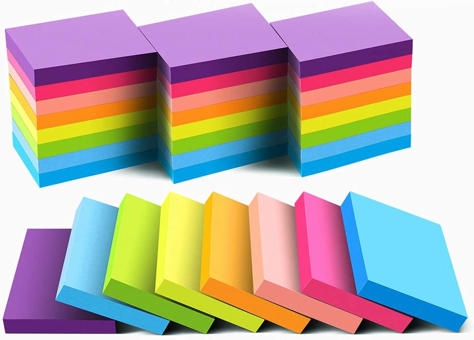 Sticky Notes 1.5x2 Inches,24 Pads, Bright Colors Self-Stick Pads,75 Sheets/Pad