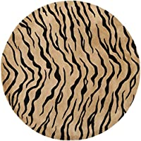 Safavieh Soho Collection SOH789A Handmade Gold and Black Premium Wool Round Area Rug (6 Diameter)
