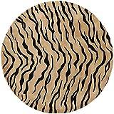 Safavieh Soho Collection SOH789A Handmade Gold and Black Premium Wool Round Area Rug (6′ Diameter)