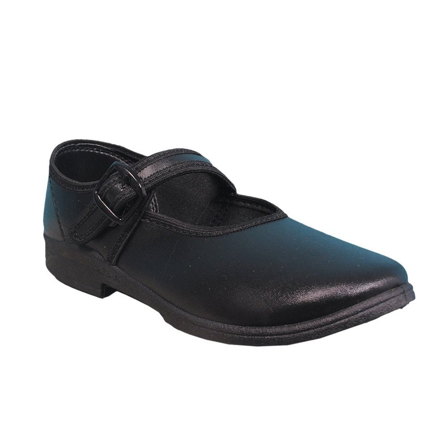 Buy Action Girls Black School Shoes (A2