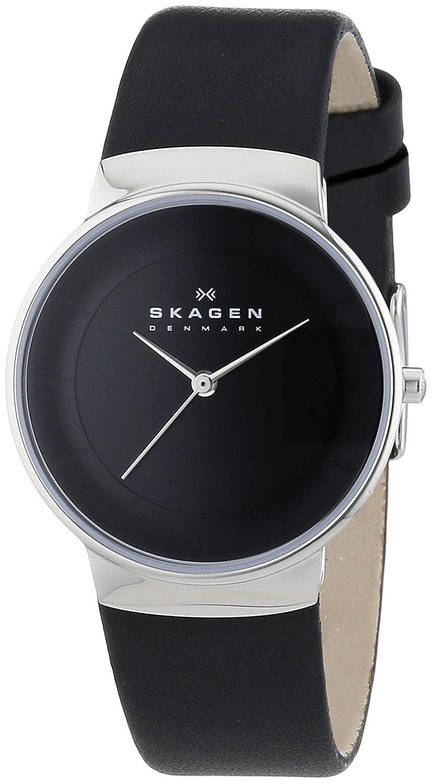 Skagen 0 Reloj de Cuarzo para Mujer, con Correa de Cuero
