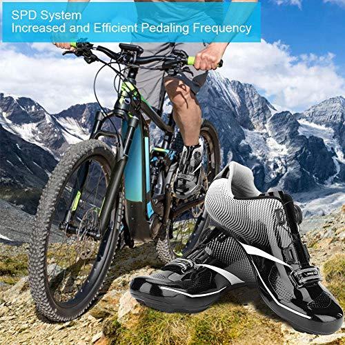 Adultos Bicicleta Zapatos Ciclismo De Transpirable Spd Moda Carretera 1 Alomejor Hombres Par System Black Lock Antideslizantes qtwUPx6x