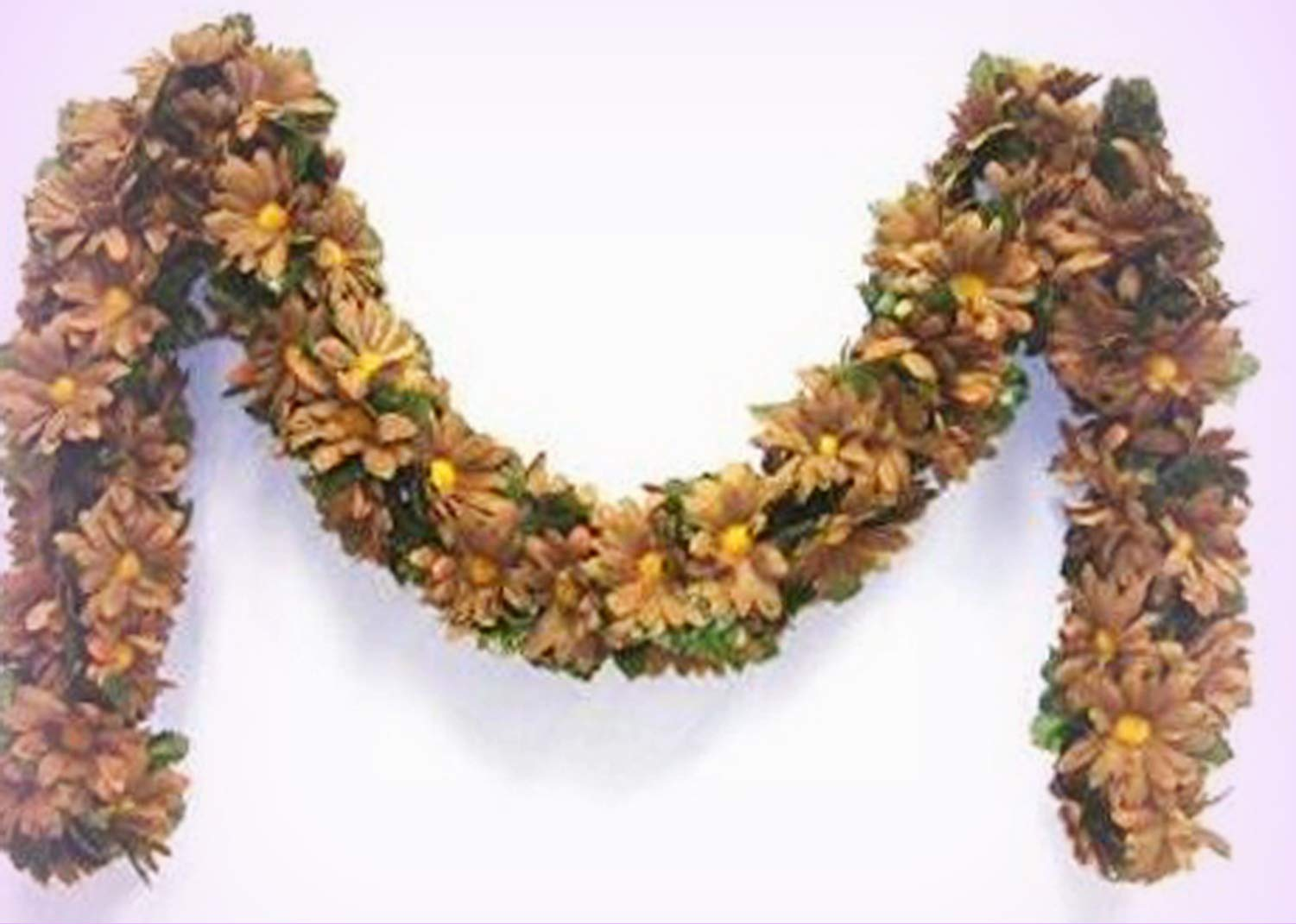 Inna-Wholesale-Art-Crafts-New-Brown-Daisy-Chain-Garland-Silk-Decorating-Flowers-Arch-Gazebo-Decor-Perfect-for-Any-Wedding-Special-Occasion-or-Home-Office-Dcor