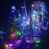 10 Pack 20 LED Wine Bottle Cork Lights Copper Wire