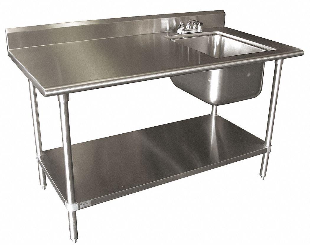 amazon com single work table sink with