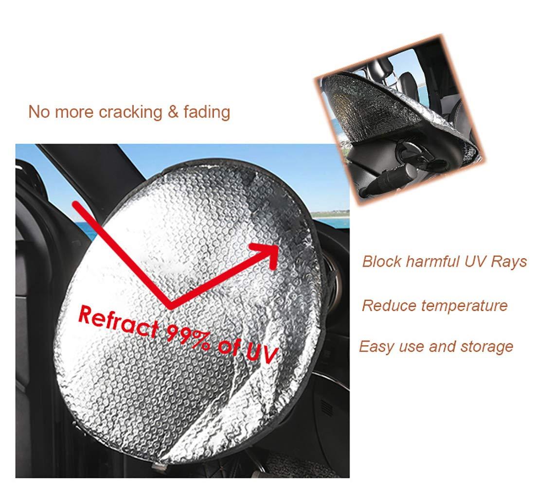 Di/ámetro 45,5cm Parasol para Volante de Coche Universal con Abertura Trasera de F/ácil Instalaci/ón