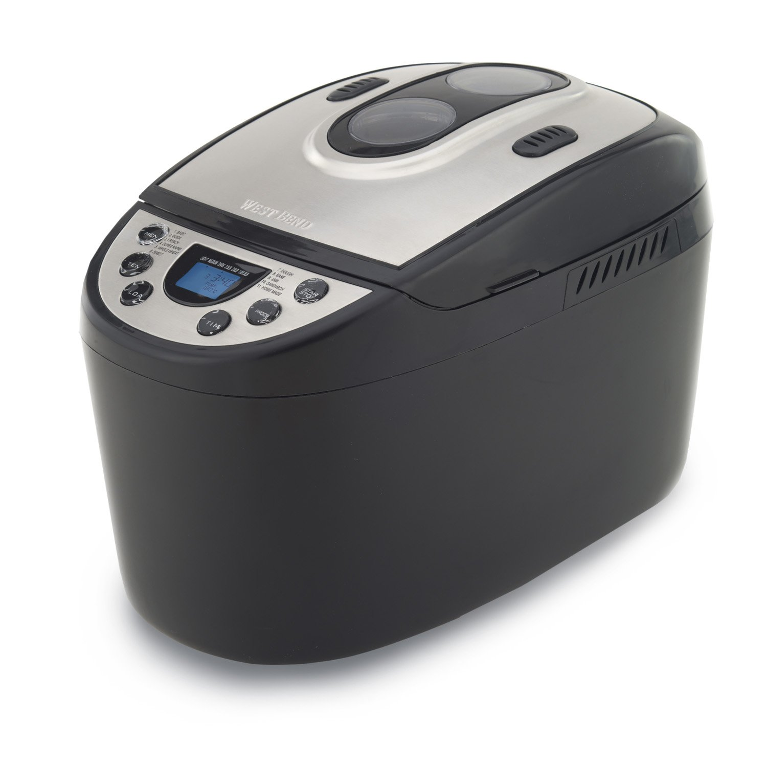 West Bend 41300 Hi-Rise Electronic Dual-Blade Breadmaker, Black (Discontinued by Manufacturer)