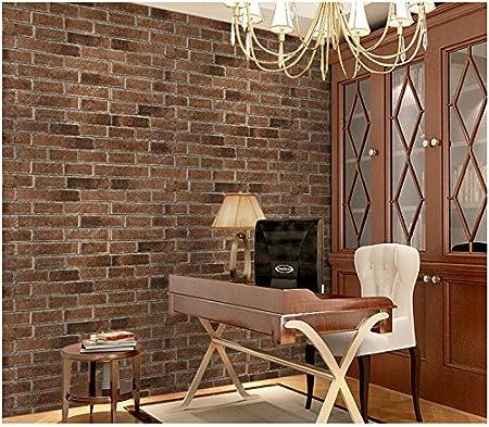 Yosot Retro Chinese 3d Brick Effect Wallpaper Living Room